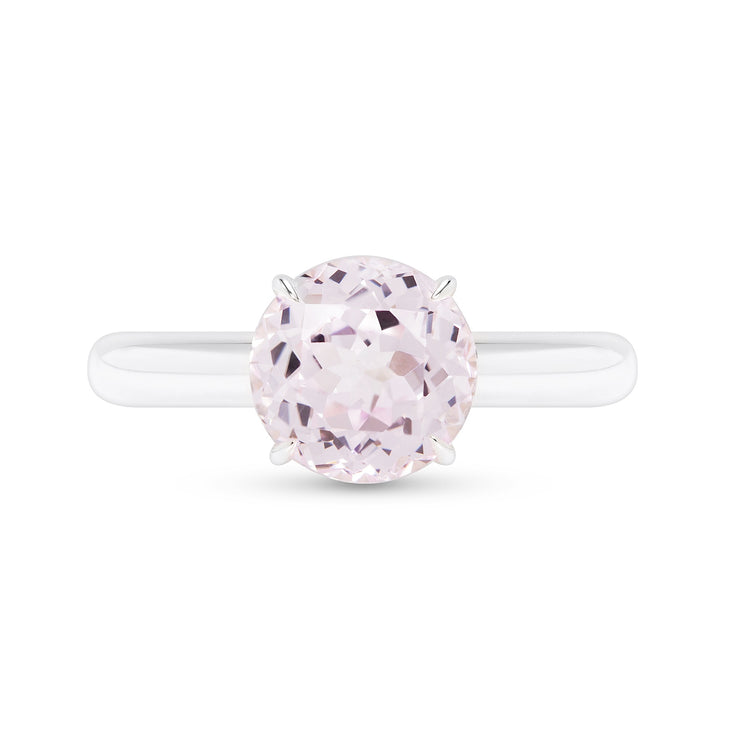 Antique Cut Light Pink Sapphire Starlet Ring In Silver