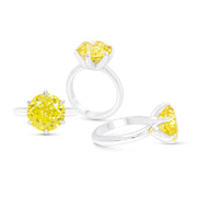 Unique Yellow Sapphire Cocktail Ring