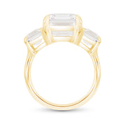 Asscher Cut White Sapphire Deco Ring In 14k Gold