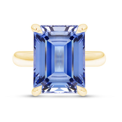 Light Blue Sapphire Empire Ring