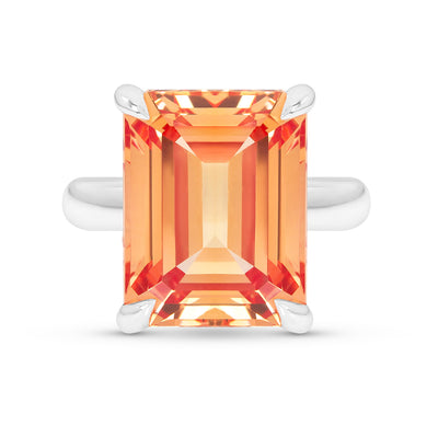 Orange Sapphire Empire Ring