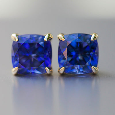 Royal Blue Sapphire Heritage Studs