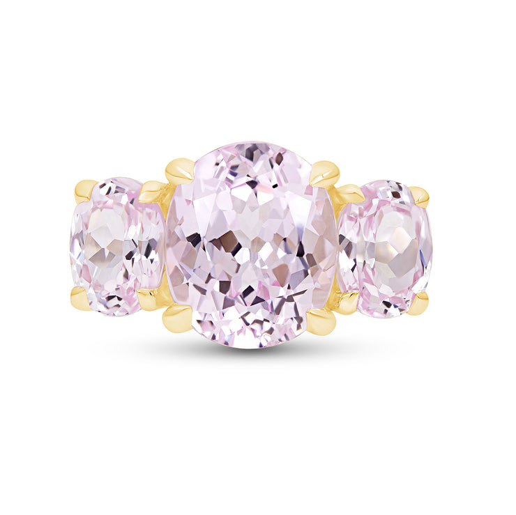 Oval Antique Cut Light Pink Sapphire Palais Ring In 14k Gold