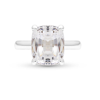 White Sapphire Pavilion Ring