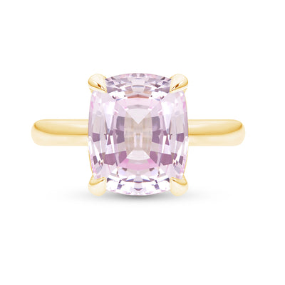 Light Pink Sapphire Pavilion Ring