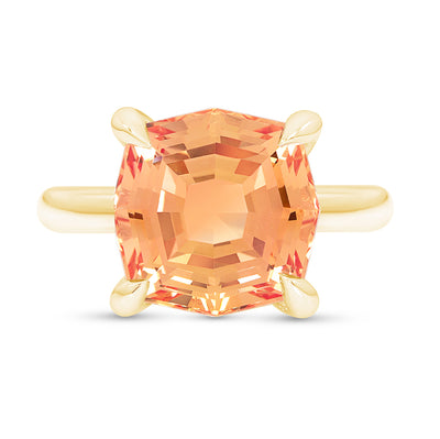 Orange Sapphire Regency Ring