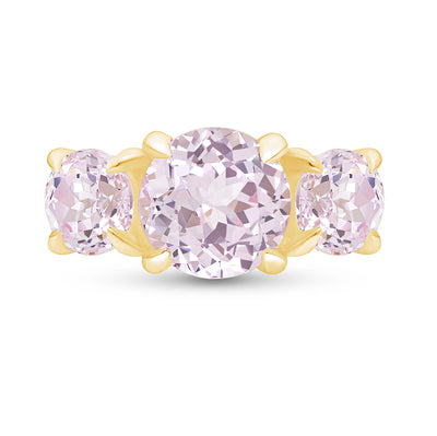 Light Pink Sapphire Triple Crown Ring