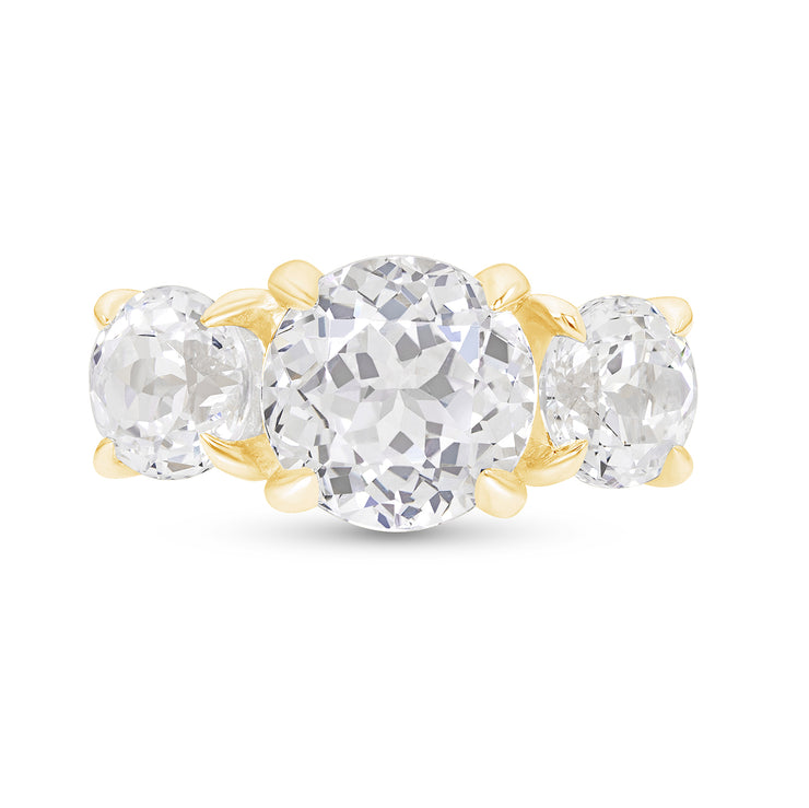 White Sapphire Triple Crown Ring