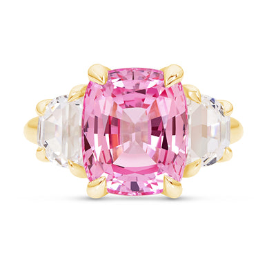 Pink Sapphire Victoire Ring