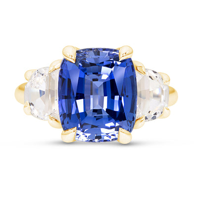 Light Blue Sapphire Victoire Ring