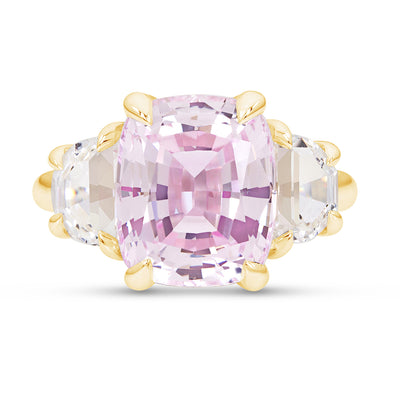 Light Pink Sapphire Victoire Ring