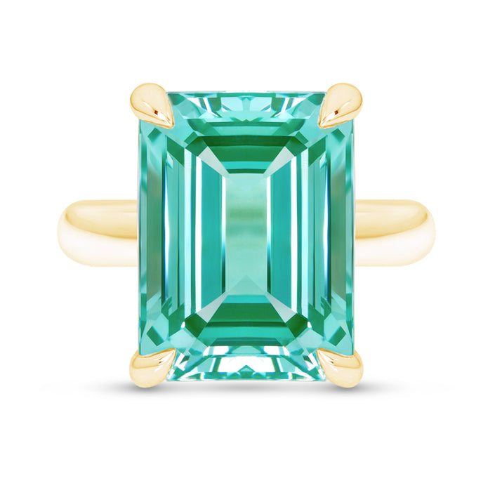 Emerald Cut Paraiba Spinel Ring