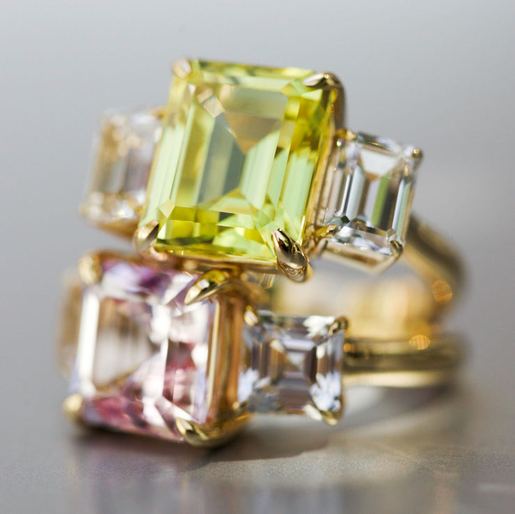Canary Yellow Sapphire Orsay Ring