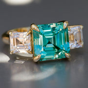 Paraiba Spinel Deco Ring