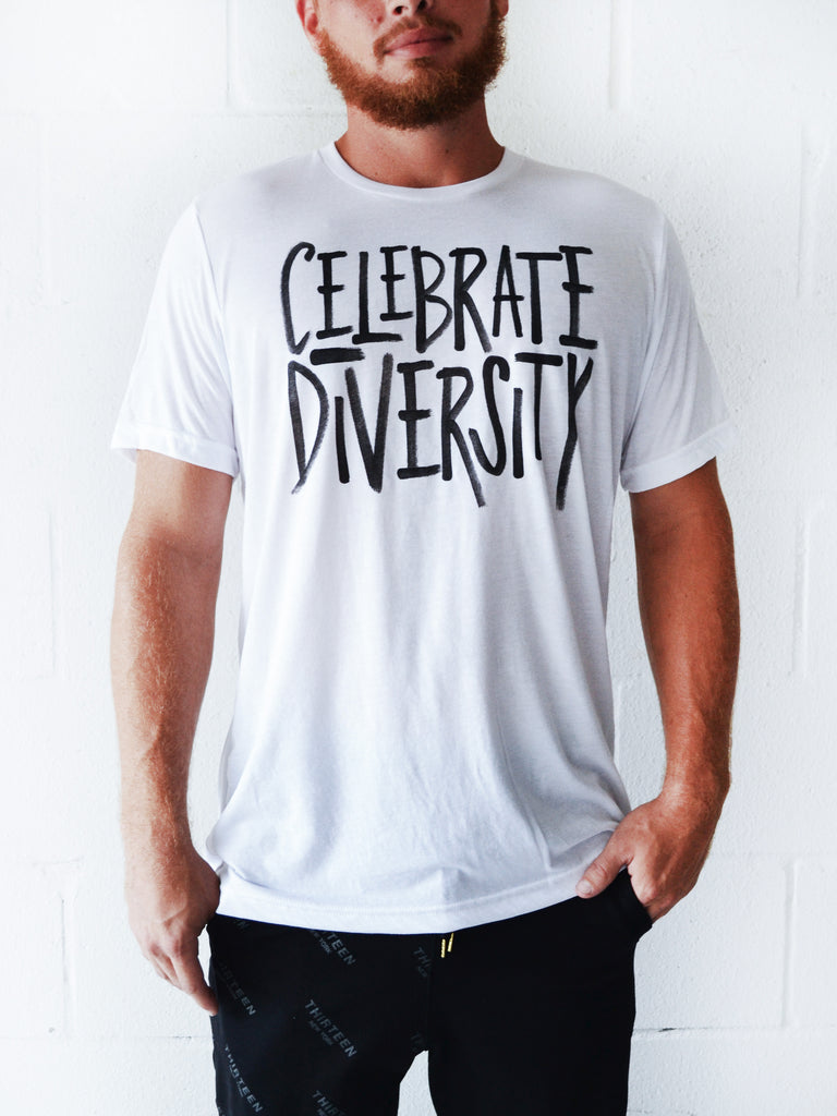 CELEBRATE DIVERSITY Tee with Customizable Cuts