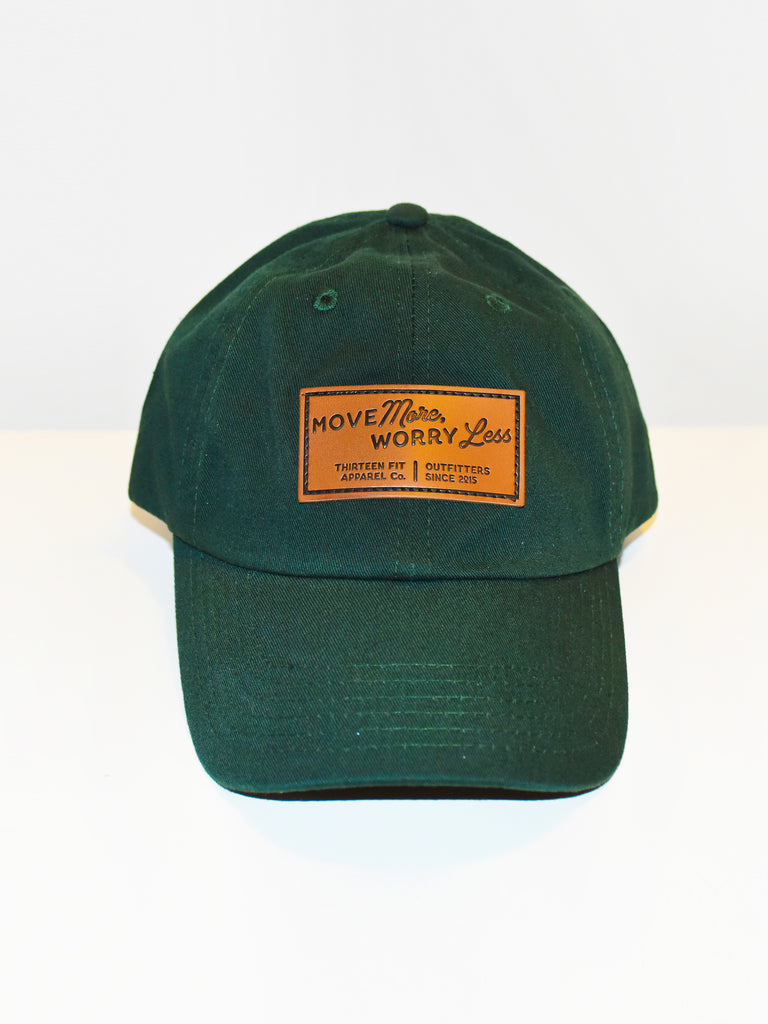 MOVE MORE WORRY LESS DAD HAT, FOREST