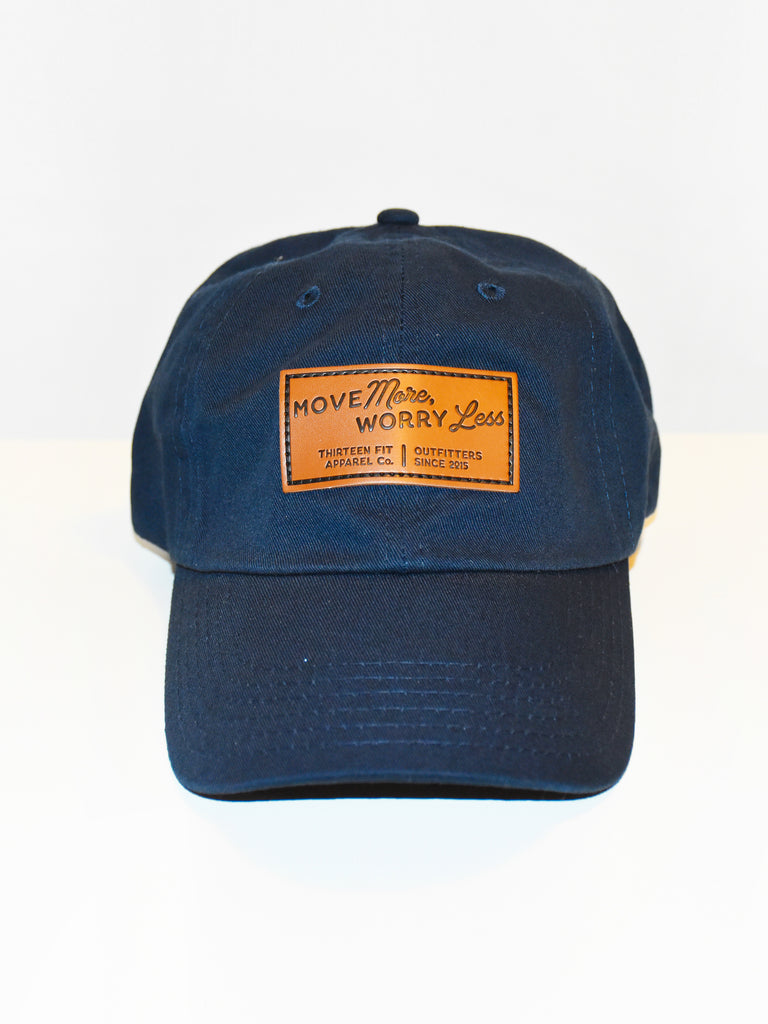 MOVE MORE WORRY LESS DAD HAT, NAVY
