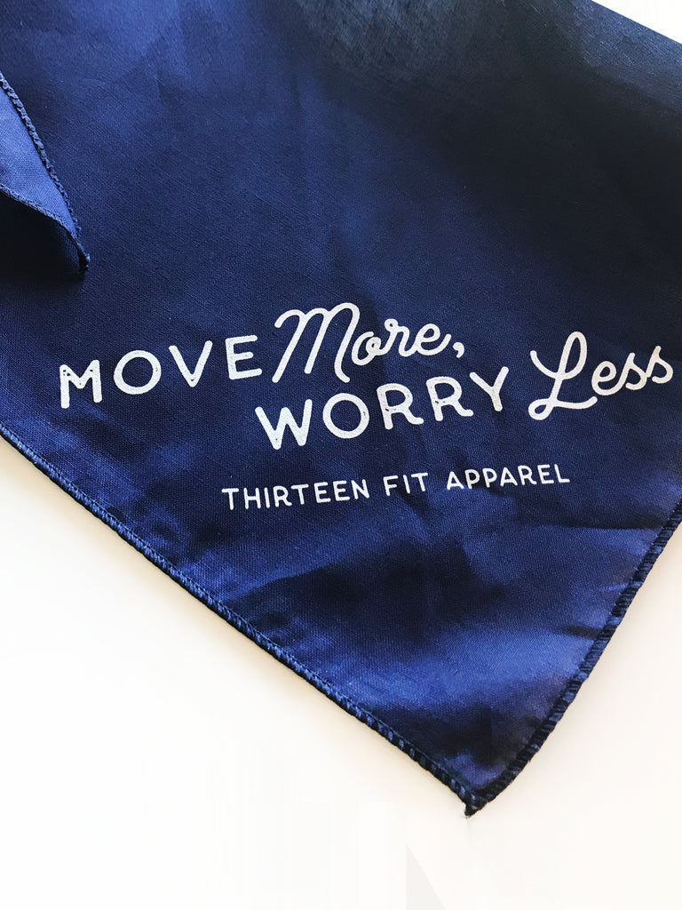 MOVE MORE WORRY LESS DOG BANDANA