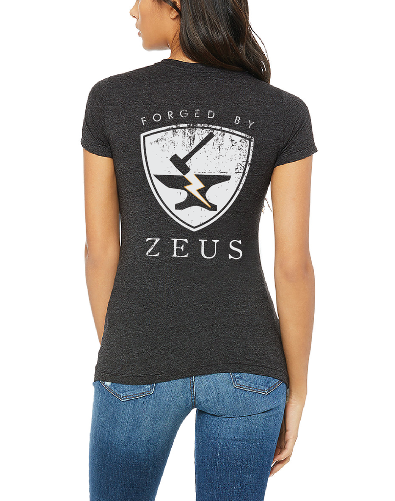 PRE-ORDER: FORGED BY ZEUS Ladies' Tee, Charcoal