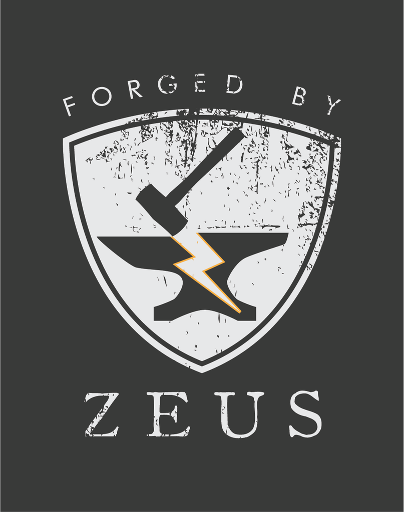 FORGED BY ZEUS Unisex Tee, Charcoal
