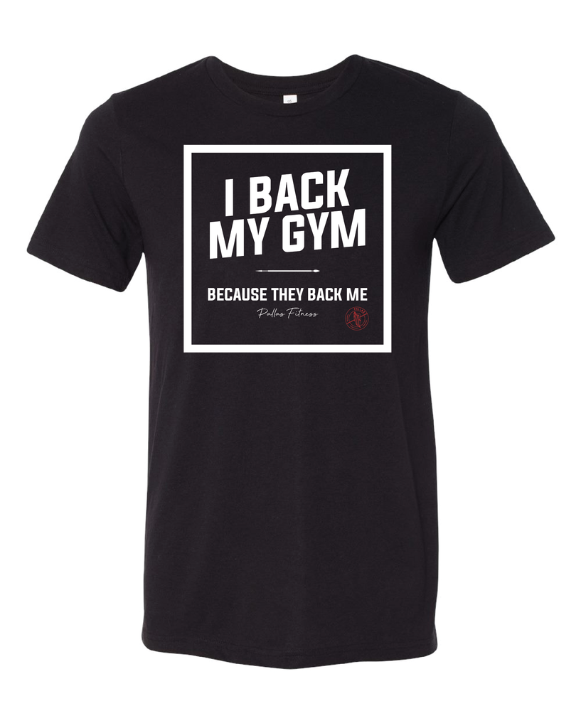PALLAS: I Back My Gym Tee, Black