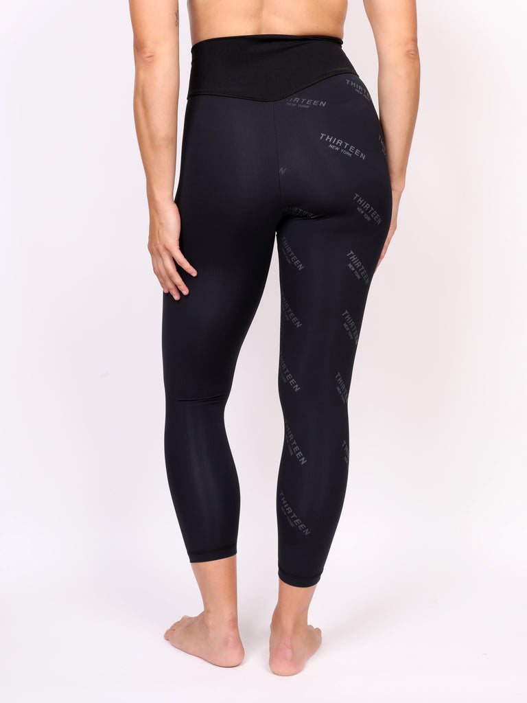 13NY LADIES LEGGING, BLACK on BLACK