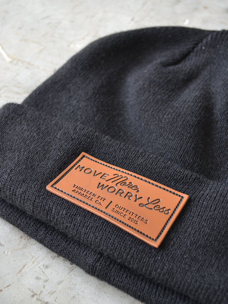 MOVE MORE WORRY LESS BEANIE