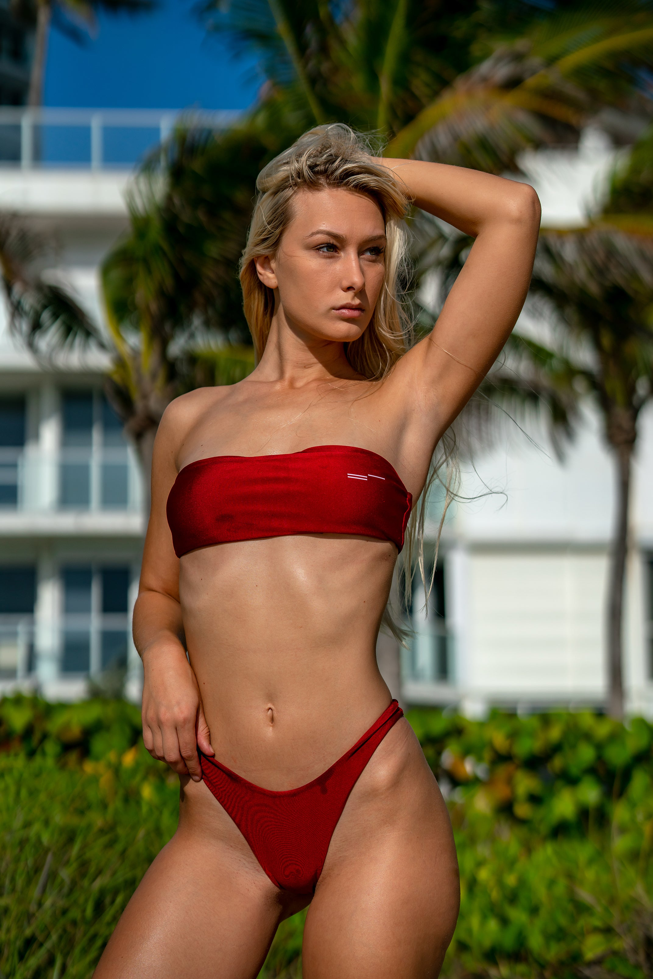 Ruby Red Bikini - Top