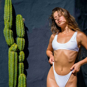 ARROGANZ Bikini Slip-On Top - Innocent White