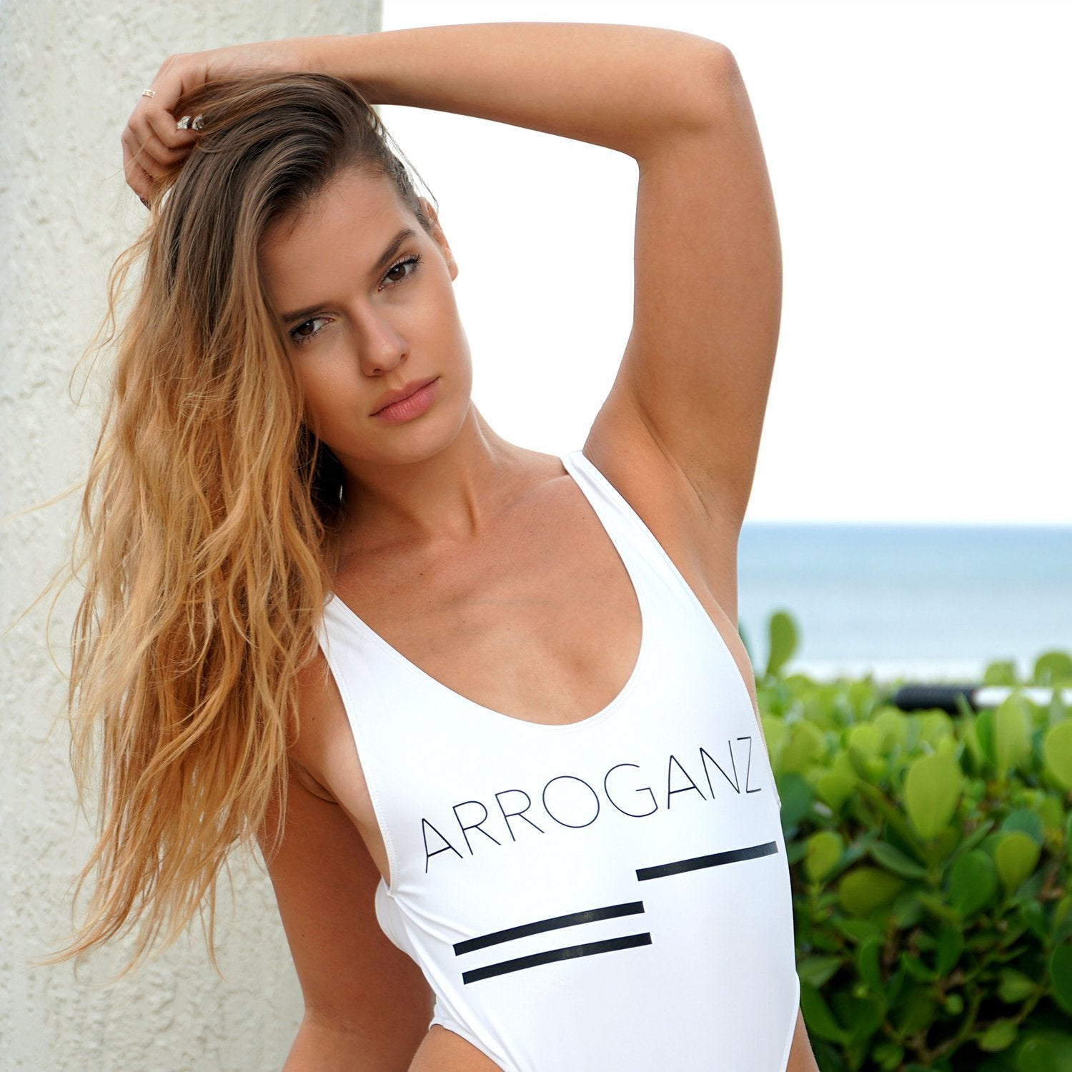 ARROGANZ One Piece Swimsuit - white