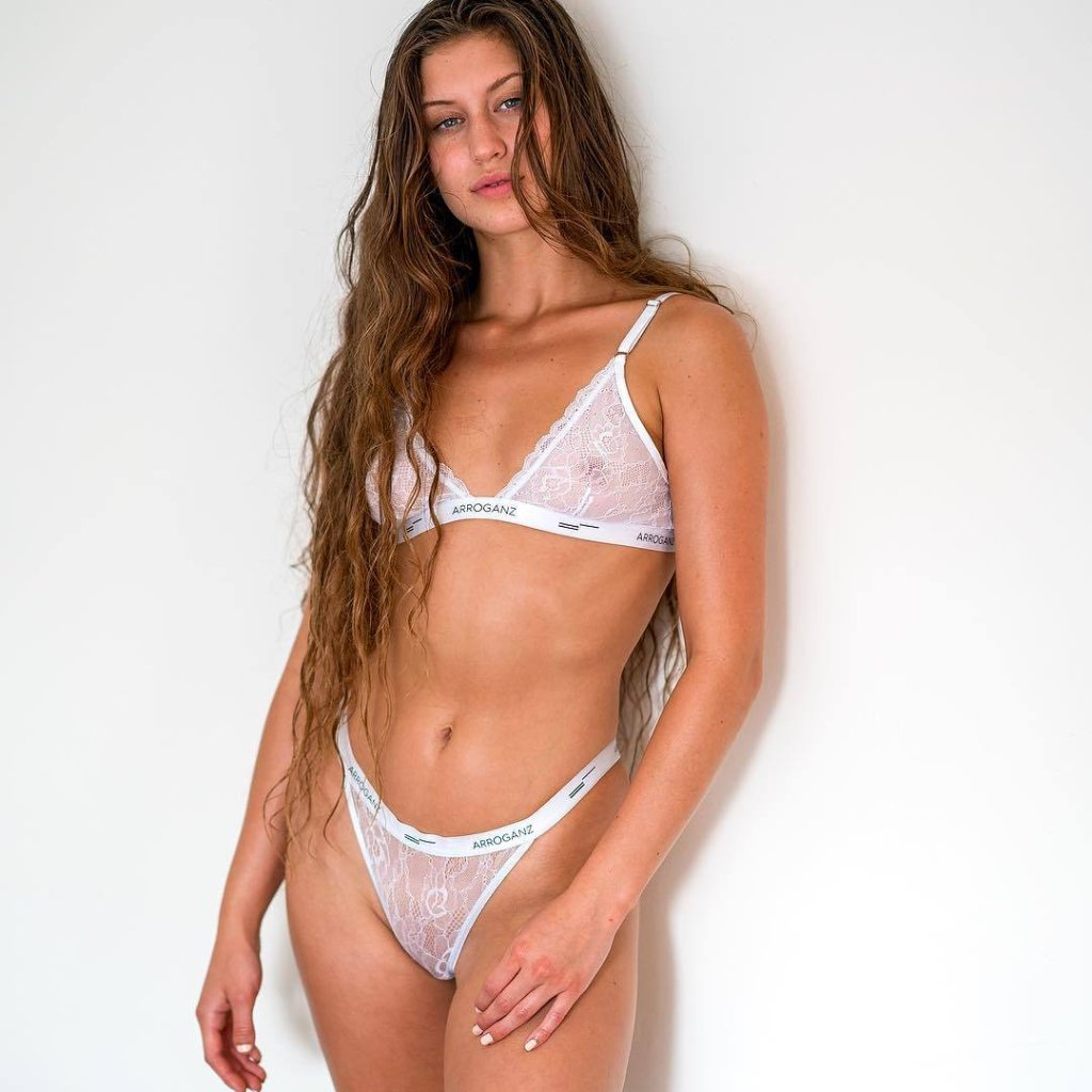 Lace Bra & Thong - Innocent White