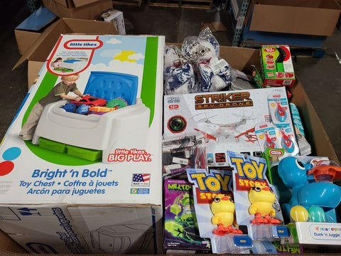 400 Piece Lot of General Merchandise, Little Tikes, Dennis Basso, Kitchen Utensils, Cosmetics, Apparel, Games, Outdoor, Seasonal, Scarves & More Unmanifested, $500 (#93)