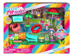PARTY POP TEENIES ~ Pool Time Set ~ Includes EXCLUSIVE Mystery Guest!  52  PCS  $110 +Shipping