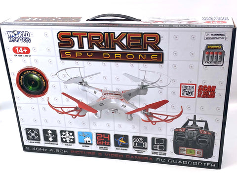 World Tech Toys 34937 Striker Spy Drone 2.4Ghz 4.5CH RC Quadcopter All Brand New 24 Units $400 FREE SHIPPING!
