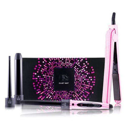 Royale Flat Iron/Curling Wand Duet Sets - Pink Stripes  Brand New in Box  Only $69.99 FREE SHIPPING