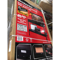 Pallet of WORKPRO Multi Purpose 48in Workbench with Work Light, 10 Pcs ALL BRAND NEW Only $330.00!