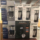 Coffee Makers by Krups, Oster & Chefman, Coffee Grinders, Disney Comforters & More  400 Pcs  $1200.00