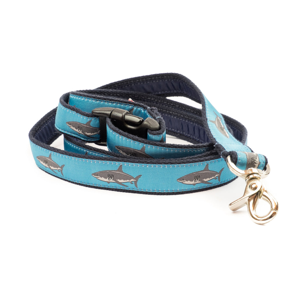 Great White Shark Dog Leash - Navy Webbing