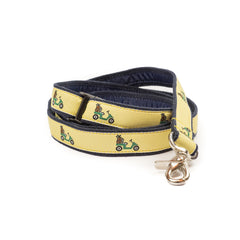 Golf Cart Dog Leash - Navy Webbing