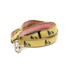 Golf Cart Dog Leash - Tan Webbing