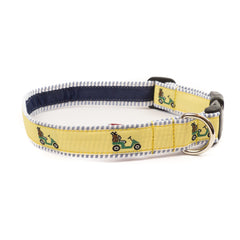 Golf Cart Dog Collar - Blue Seersucker