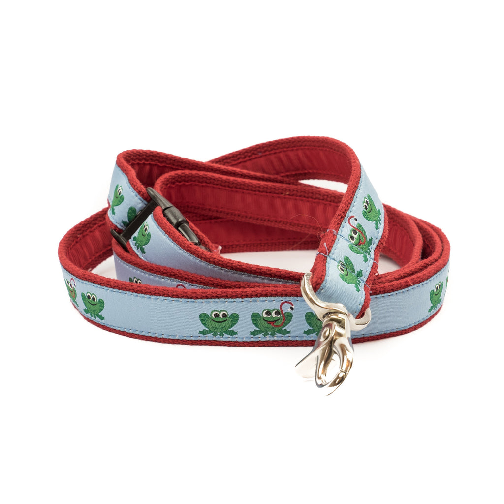 Frog Dog Leash - Red Webbing