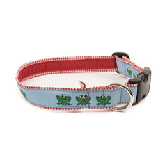 Frog Dog Collar - Red Gingham