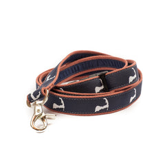 Cape Cod Dog Leash - Pink webbing