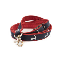 Cape Cod Dog Leash - Red Webbing