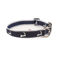 Cape Cod Dog Collar - Blue Seersucker