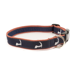 Cape Cod Dog Collar - Nantucket Red Webbing
