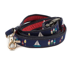 Boats & Buoys Dog Leash - Navy Webbing