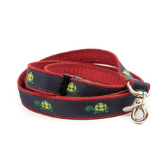 Turtle Dog Leash - Red Webbing