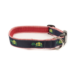 Turtle Dog Collar - Red Gingham